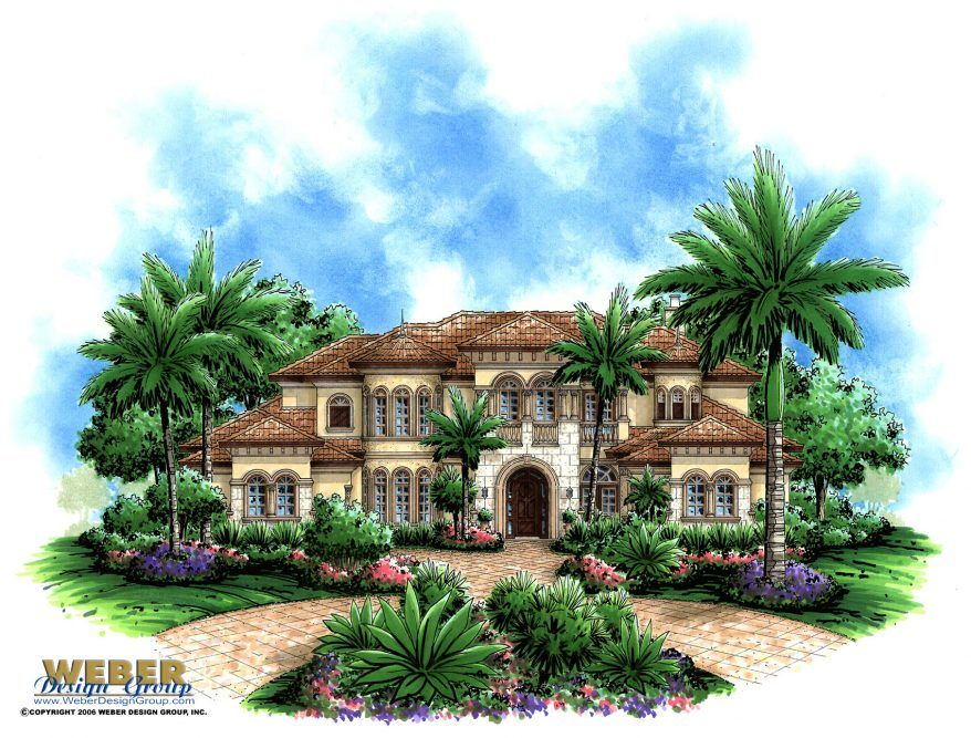 Mediterranean House Plan Luxury Mediterranean Beach Home
