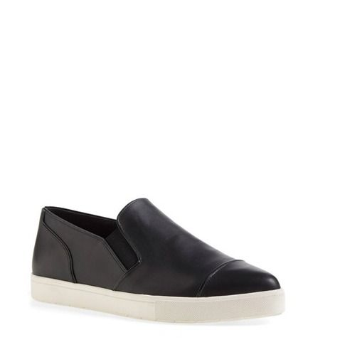 Vince. Woman Leather Slippers Black Size 38 Vince Js7hIUuG2