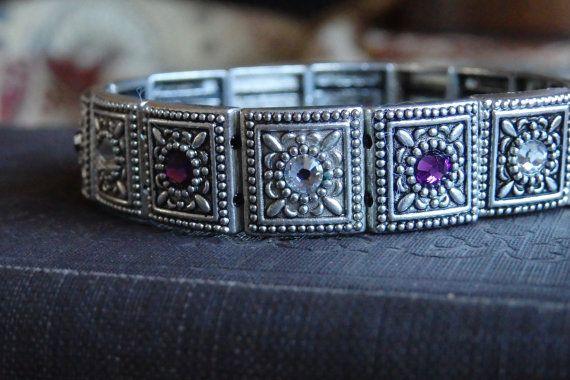 Swarovski Crystal Stretch Bracelet by WedgewoodWalkDesigns on Etsy, $12.00