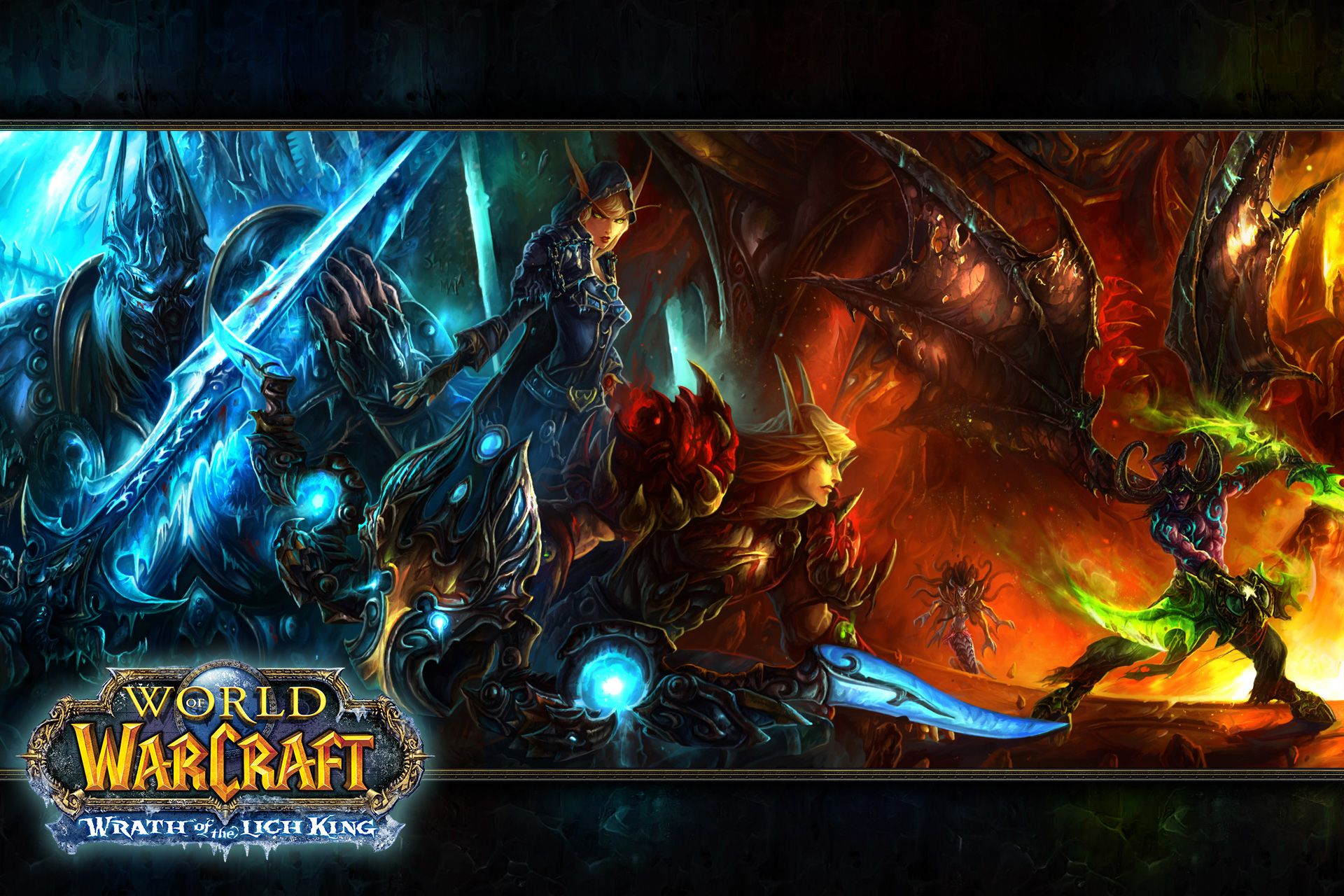 Wallpaper Widescreen Awesome Blizzard Burning Crusade