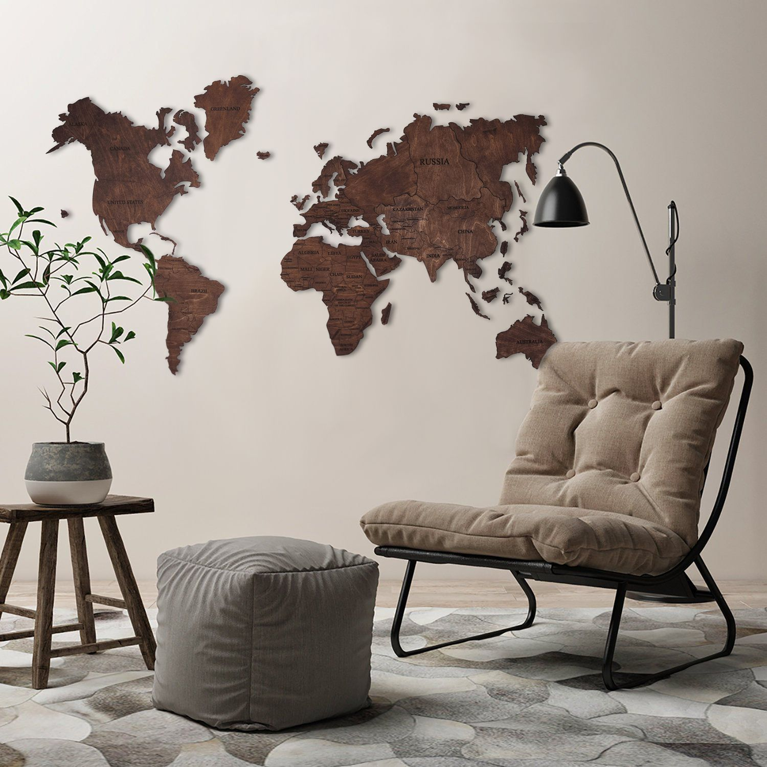 Wood Wall Art Wall Map Of The World Map Wooden Travel Push Pin Etsy Large Wood Wall Art World Map Wall Art World Map Wall