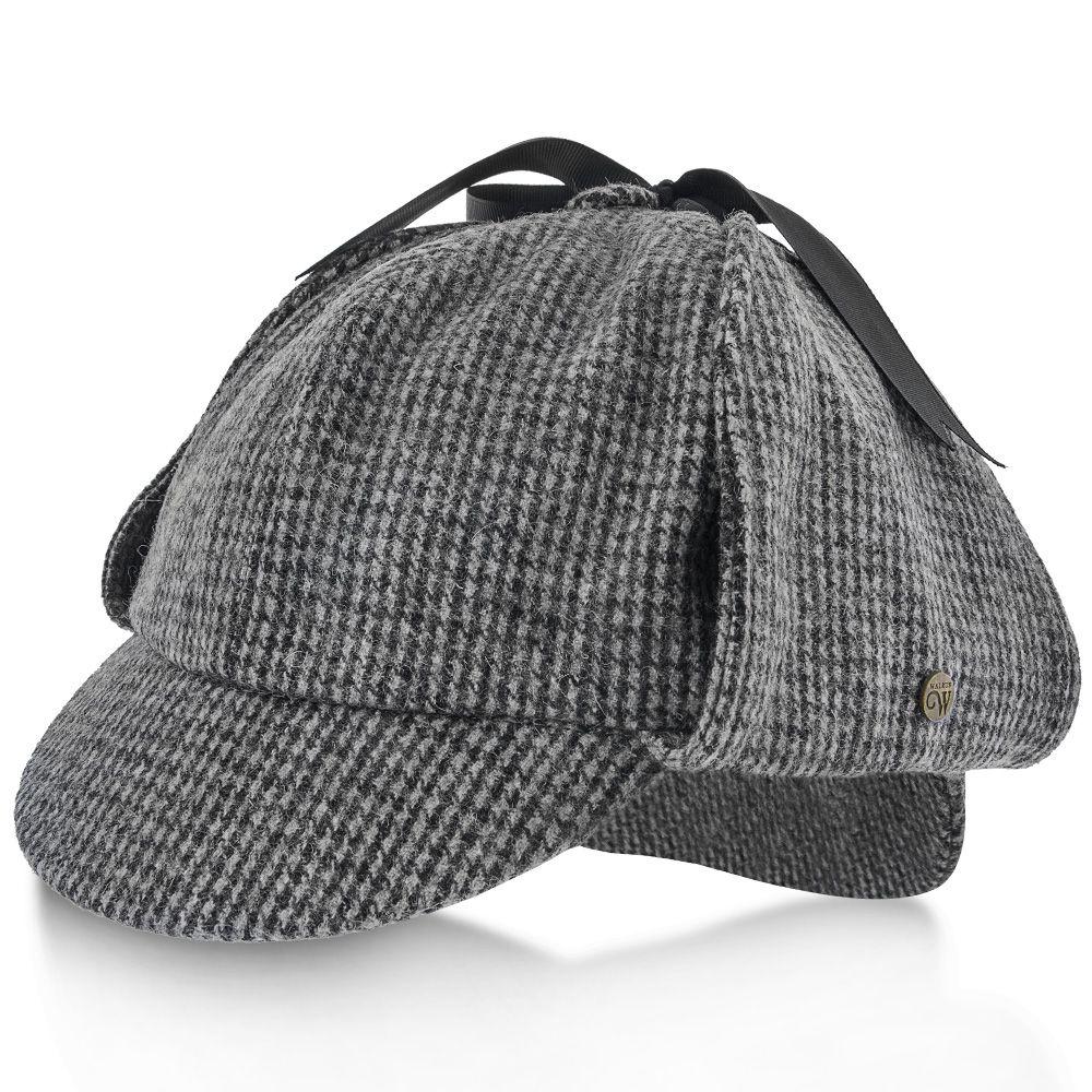 1df96e9fab5c2 Hüte   Mützen Deerstalker Sherlock Holmes Chequered Pattern Tweed Hat