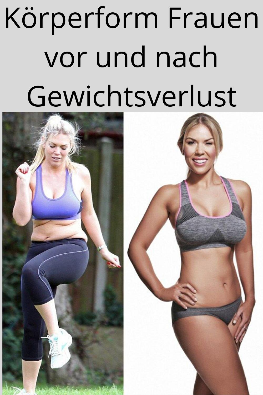 Motivation Fitness Frauen vor und nach dem Abnehmen