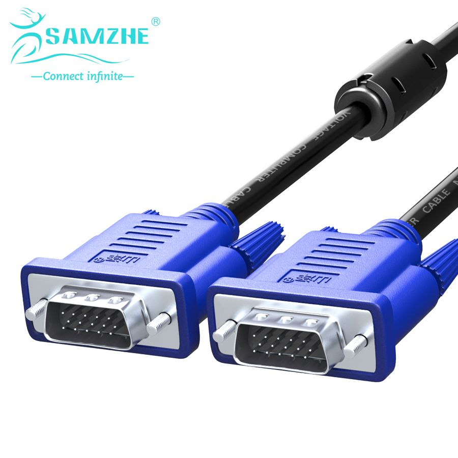 Samzhe 1080p Vga Cable Male To 3 6 Pin D Sub Able For Hdtv Kabel 3m