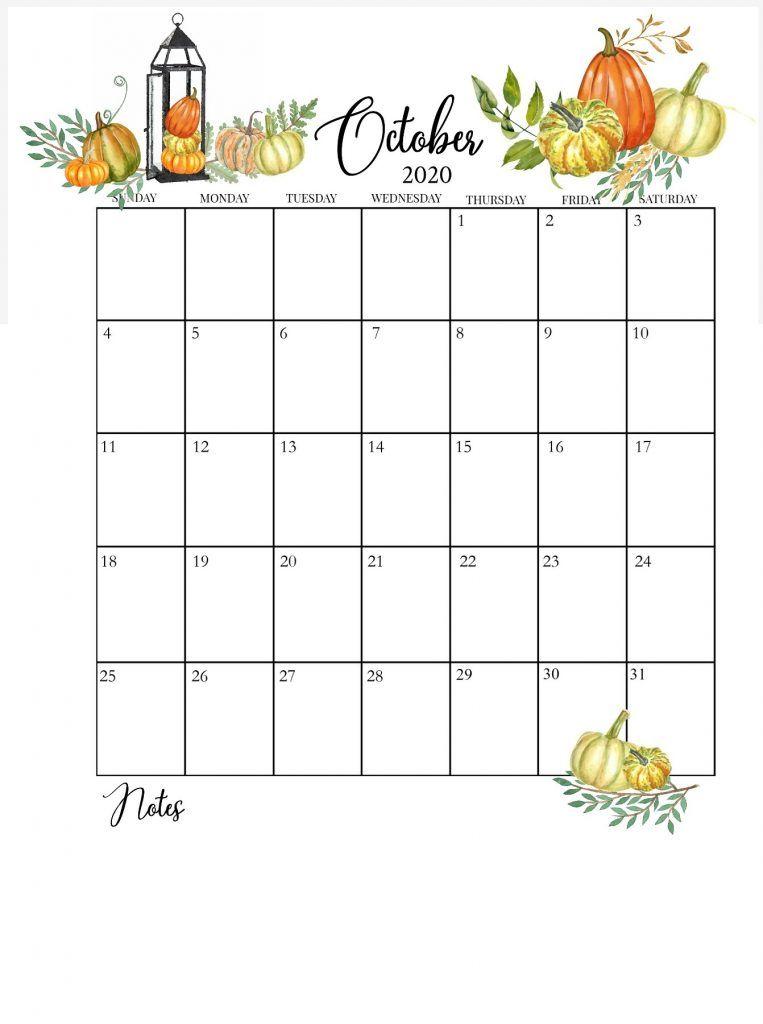 October 2020 Floral Calendar In 2020 Calendar Printables October Calendar Printable Calendar