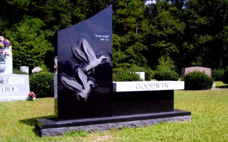 Custom Stone Memorial Benches Gallery By Brown Memorials Memorial Benches Cemetery Headstones Tombstone Designs