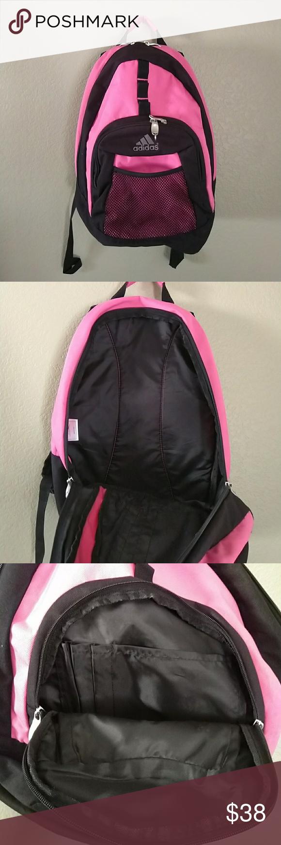 d64fa0b00fe3 Shoulder Straps · Adidas backpack school bag pink black Adidas backpack