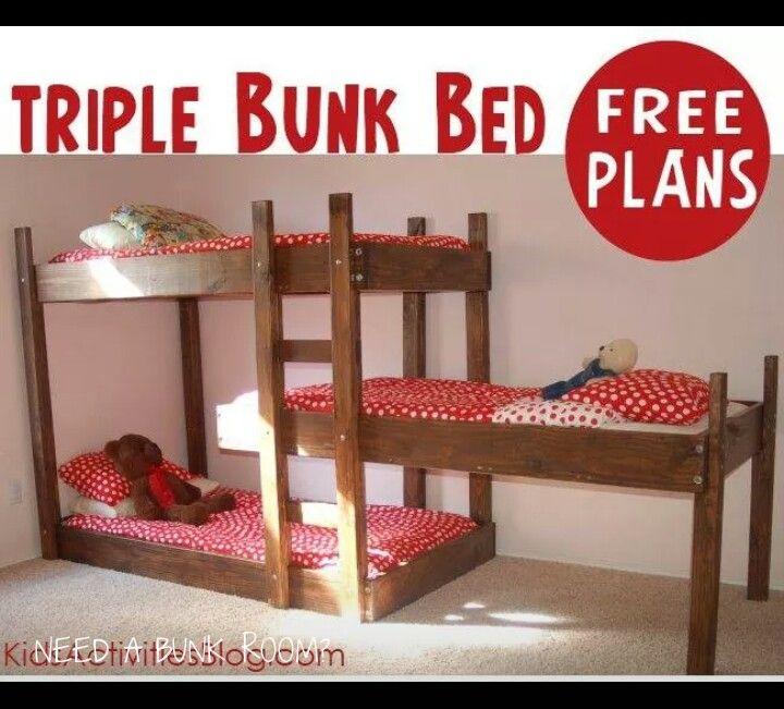 Triple Bunk Beds Home Decor That I Love Pinterest Triple Bunk
