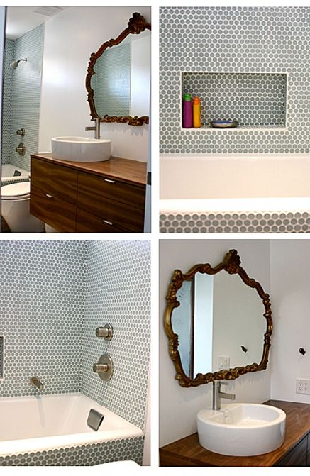 Love The Mirror And The Shelf In The Tile Surround