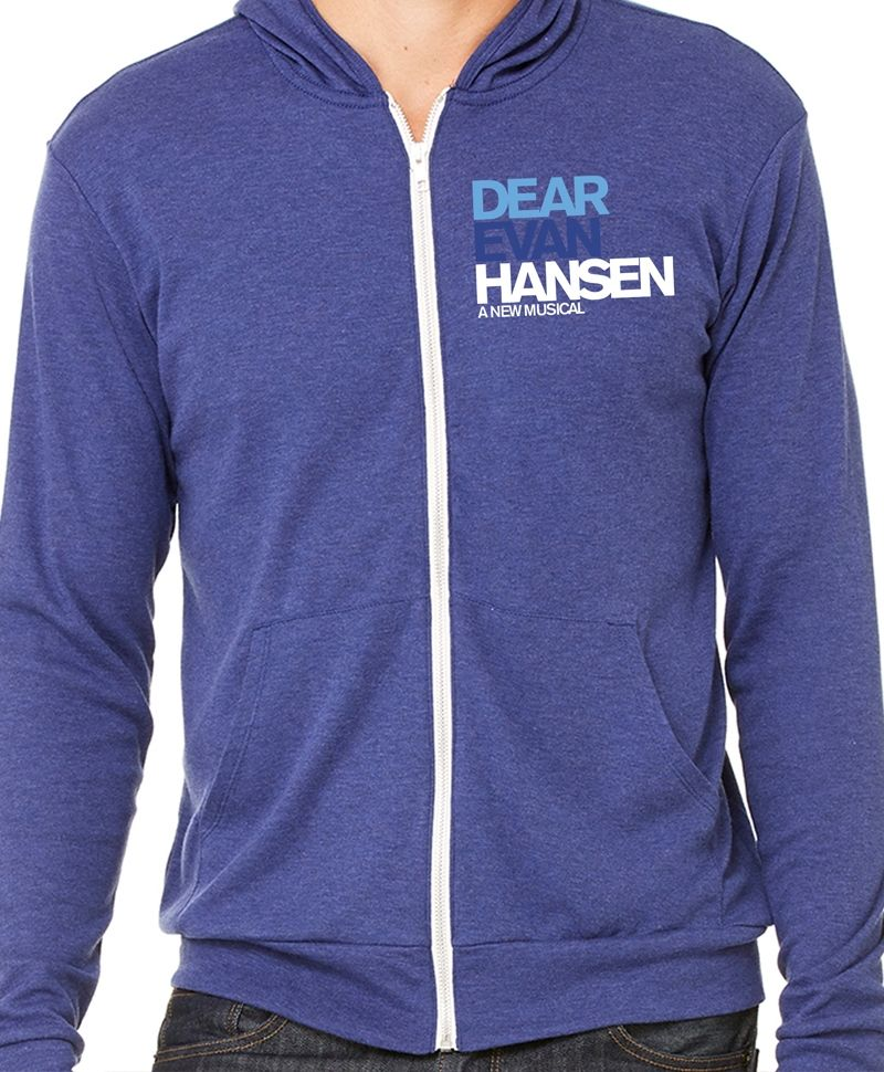 602f3bd14 The Dear Evan Hansen zippered hoodie is a new addition to the Playbill  Store and is