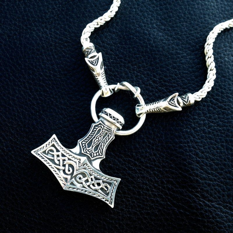 Thors hammer pendant mk iii 45000 via etsy jewelry thors hammer pendant mk iii mozeypictures Gallery