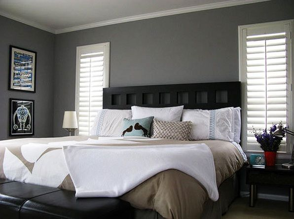 Gray bedroom colors with black furniture | Decolover.net ...