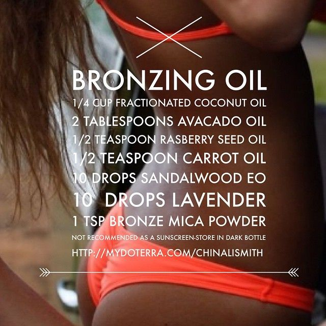 diy tanning with essential oils bronzer summer summer and