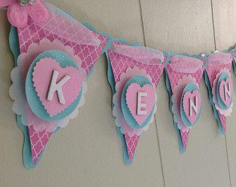 Girl Baby Shower Banner, Pink Baby Shower, Birthday Banner, Girl ...
