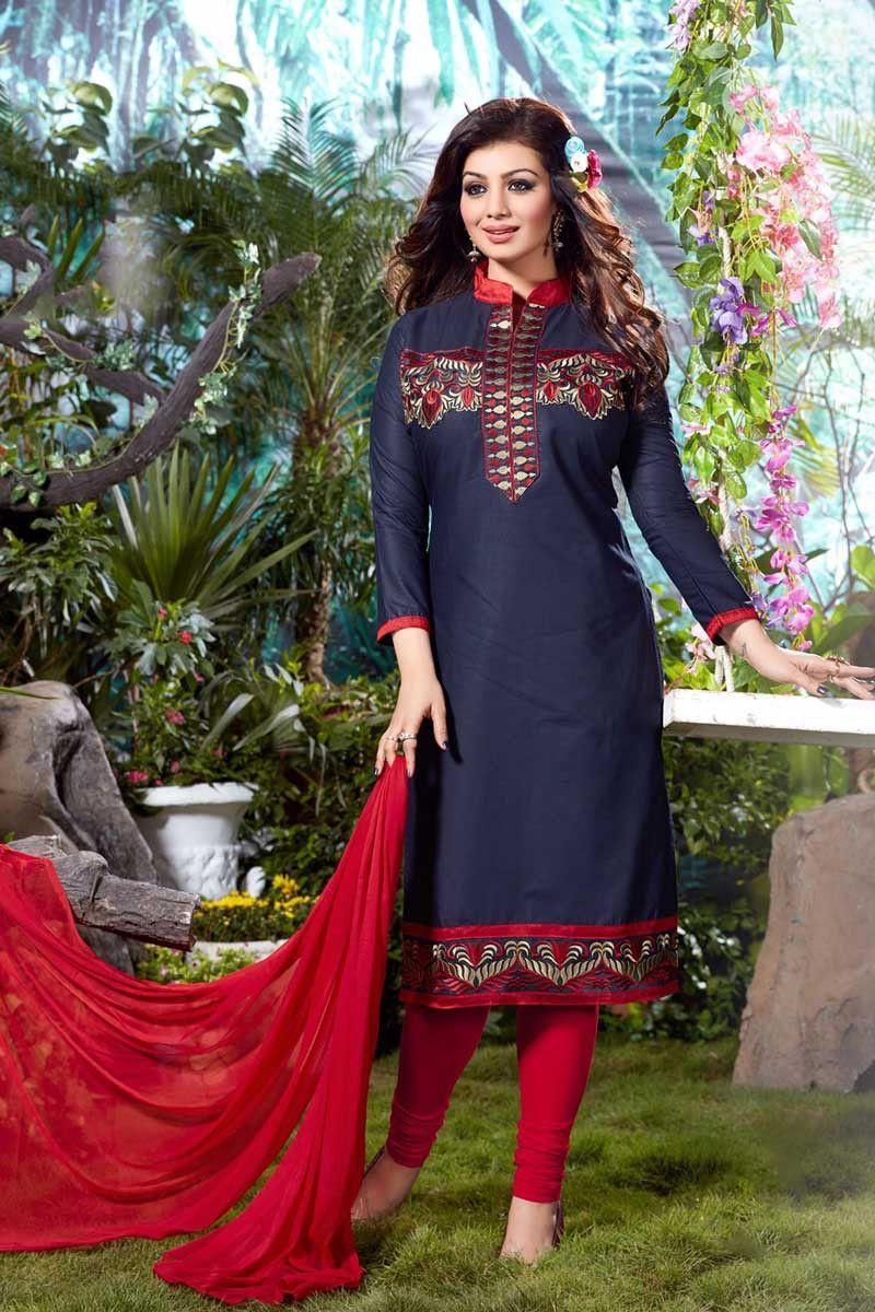Blue georgette party wear salwar kameez with dupatta products