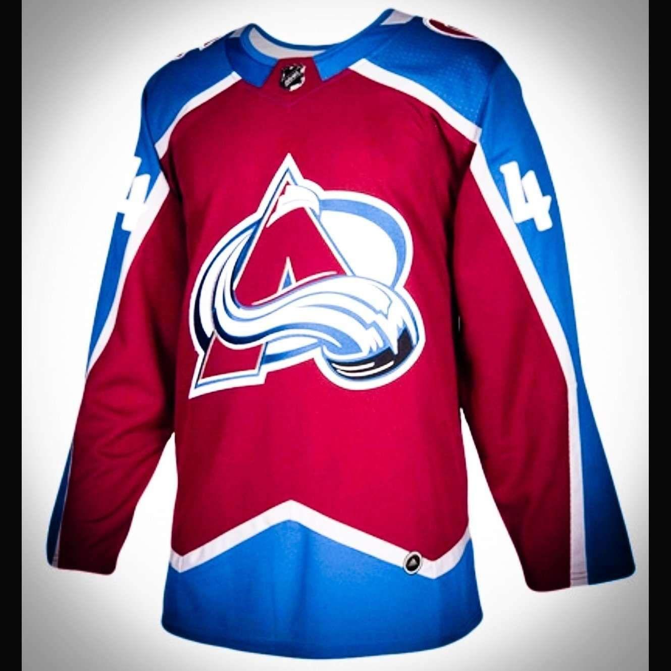 free shipping 364ad 6291f Colorado Avalanche Premier Adidas NHL Home - Road & Alt ...