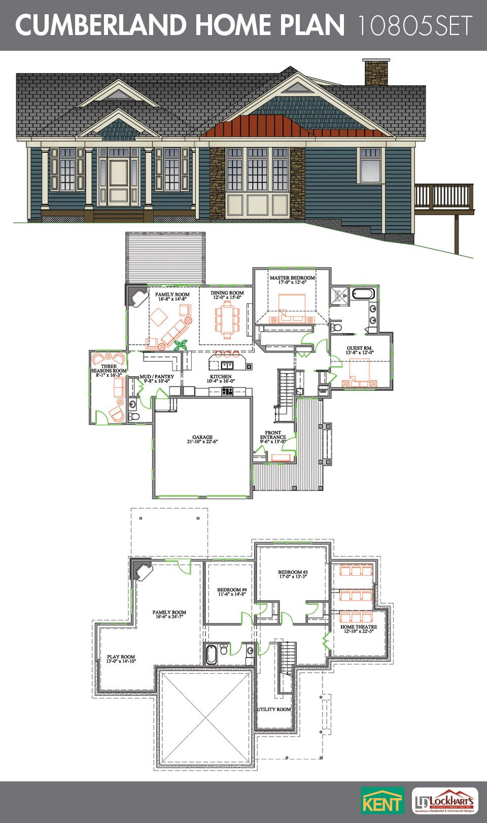 Cumberland 4 Bedrooms 2 1 2 Bath Home Plan Features