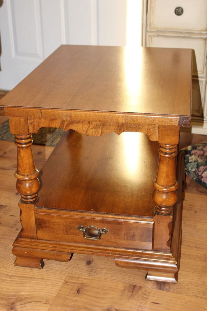 Tell city young republic hard rock maple end table reduced for Reduced furniture