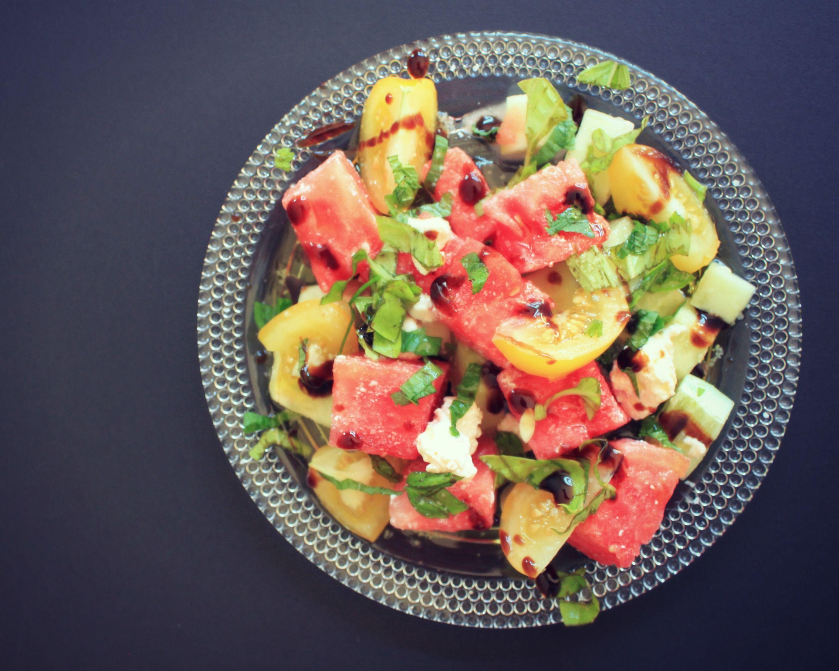 watermelon & feta summer salad...mmm...