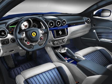 #TailorMade Interiors In White And Blue Leather, Alcantara On Seats #FF # Ferrari #Design                        Get The Best Car Accessories Cheap  Through ...
