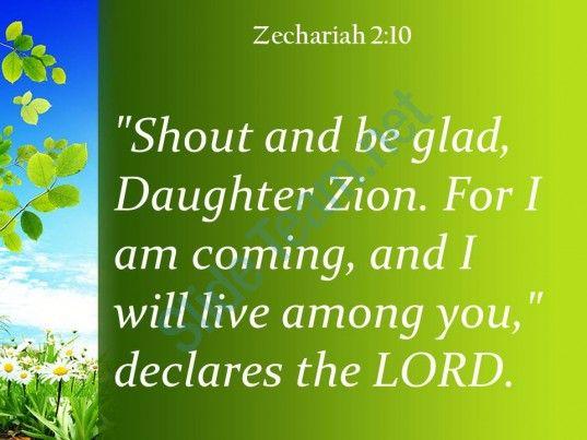 Zechariah   I Will Live Among You Powerpoint Church Sermon