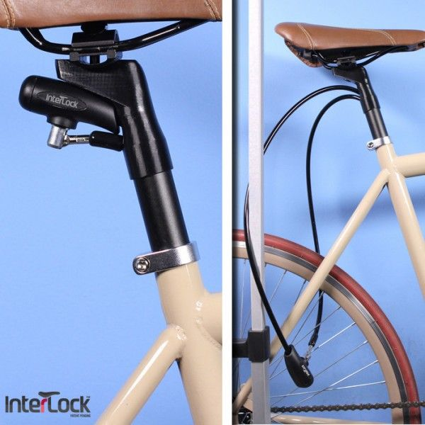The Interlock Integrated Seatpost Bicycle Lock Fahrradschloss