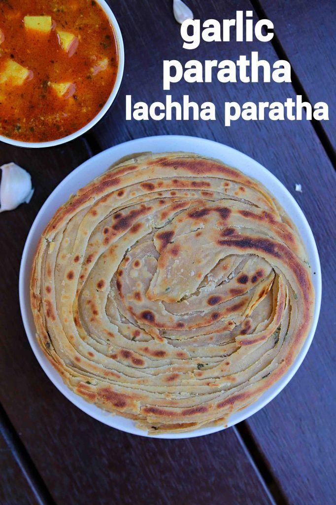 garlic paratha recipe | chilli garlic lachha parat