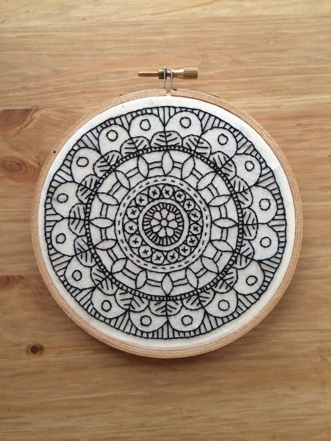 How precise by hand love this sort of an embroidery zentangle