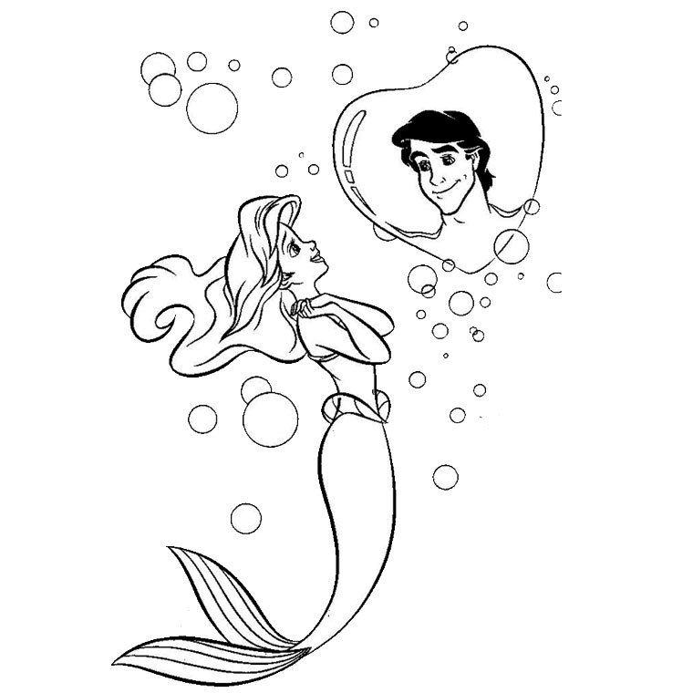 Dessins Gratuits Colorier Coloriage Princesse Ariel Imprimer