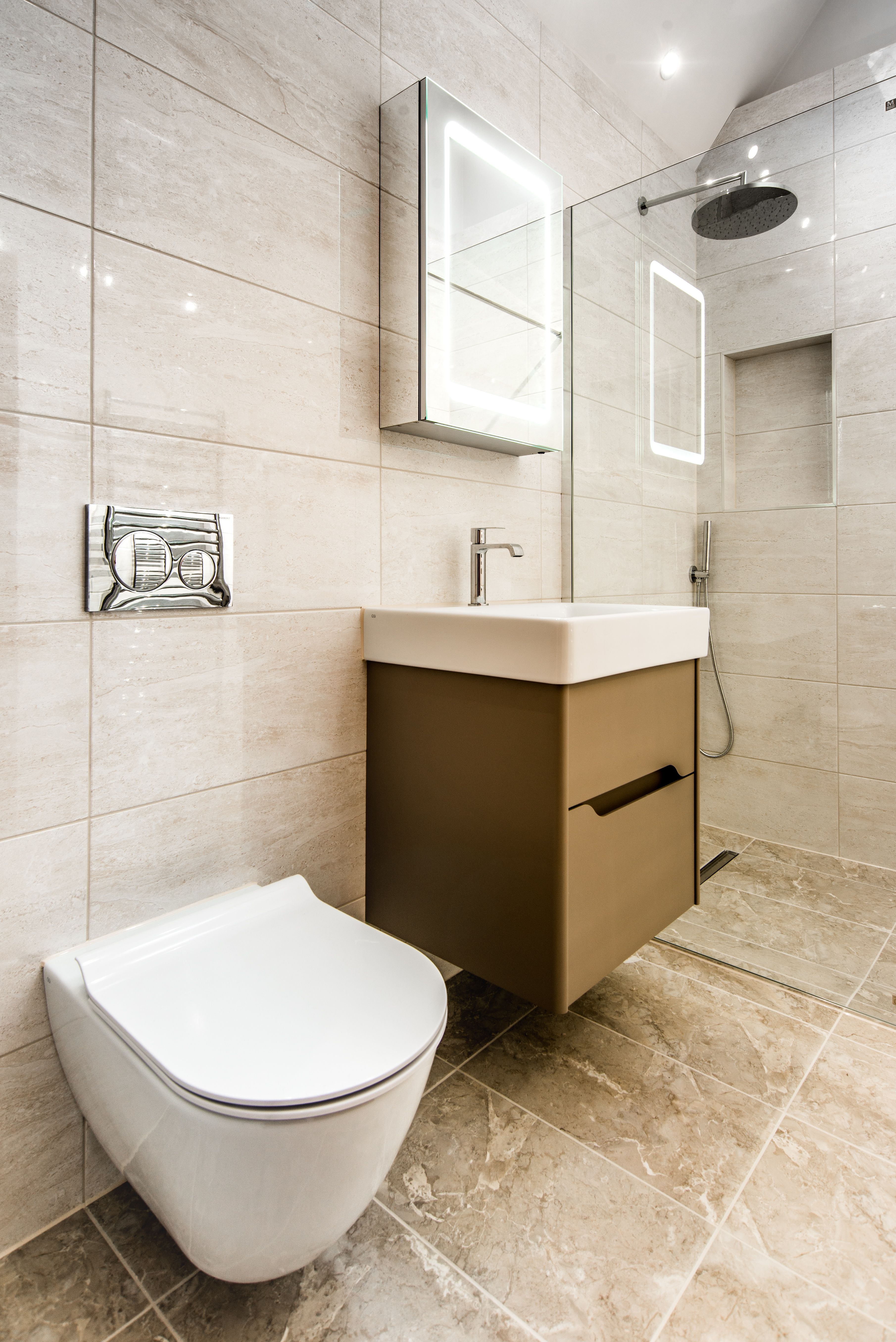 En Suite Shower Room in Goudhurst Kent featuring GSI Vanity Unit