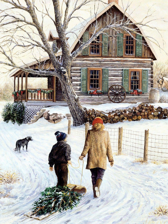 Christmas house with snow art - Christmas Time