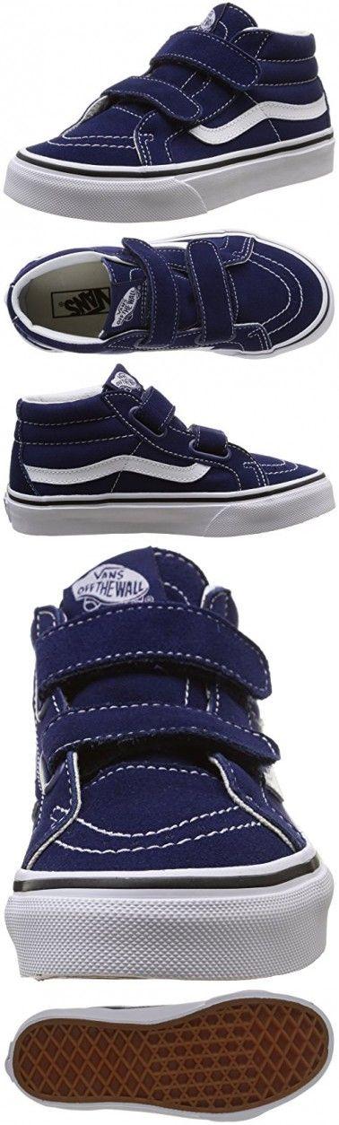 db1d3d6e6f3e Vans Kids Sk8-Mid Reissue V Patriot Blue True White Skate Shoe 2 Kids
