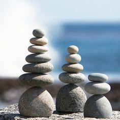 3 Piece Rock Cairn Garden Stone Set is part of Modern garden Stone - Representing safety, hope and friendship, cairn stones have been used by cultures around the globe for centuries