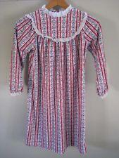 b2dd7aafc0 70s Lanz of Salzburg Long Flannel Girls Nightgown Floral M Medium Hearts  Tyrolean