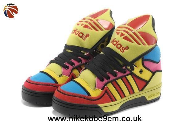 new concept 97df1 50f0b Authentic Adidas X Jeremy Scott Big Tongue Color Shoes Sale Online