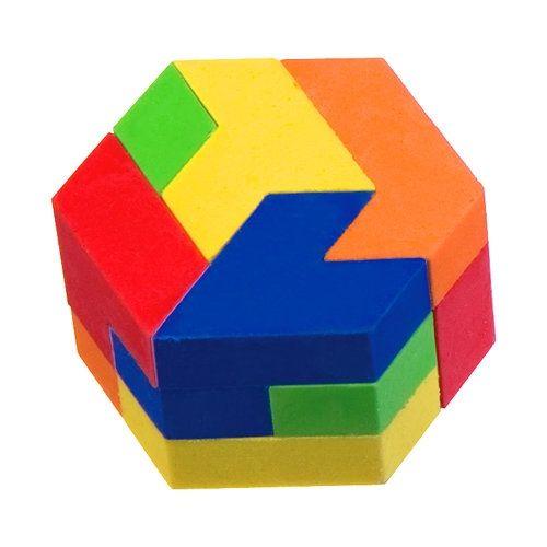 Puzzle Eraser - Jumbo Hexagon | Hexagons | Eraser collection