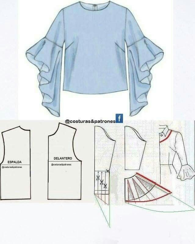 Flare sleeves | DIY | Pinterest | Sewing, Sewing patterns and Pattern