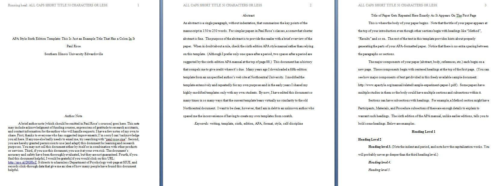 005 Apa Format Template Preview Essay Thatsnotus in Apa