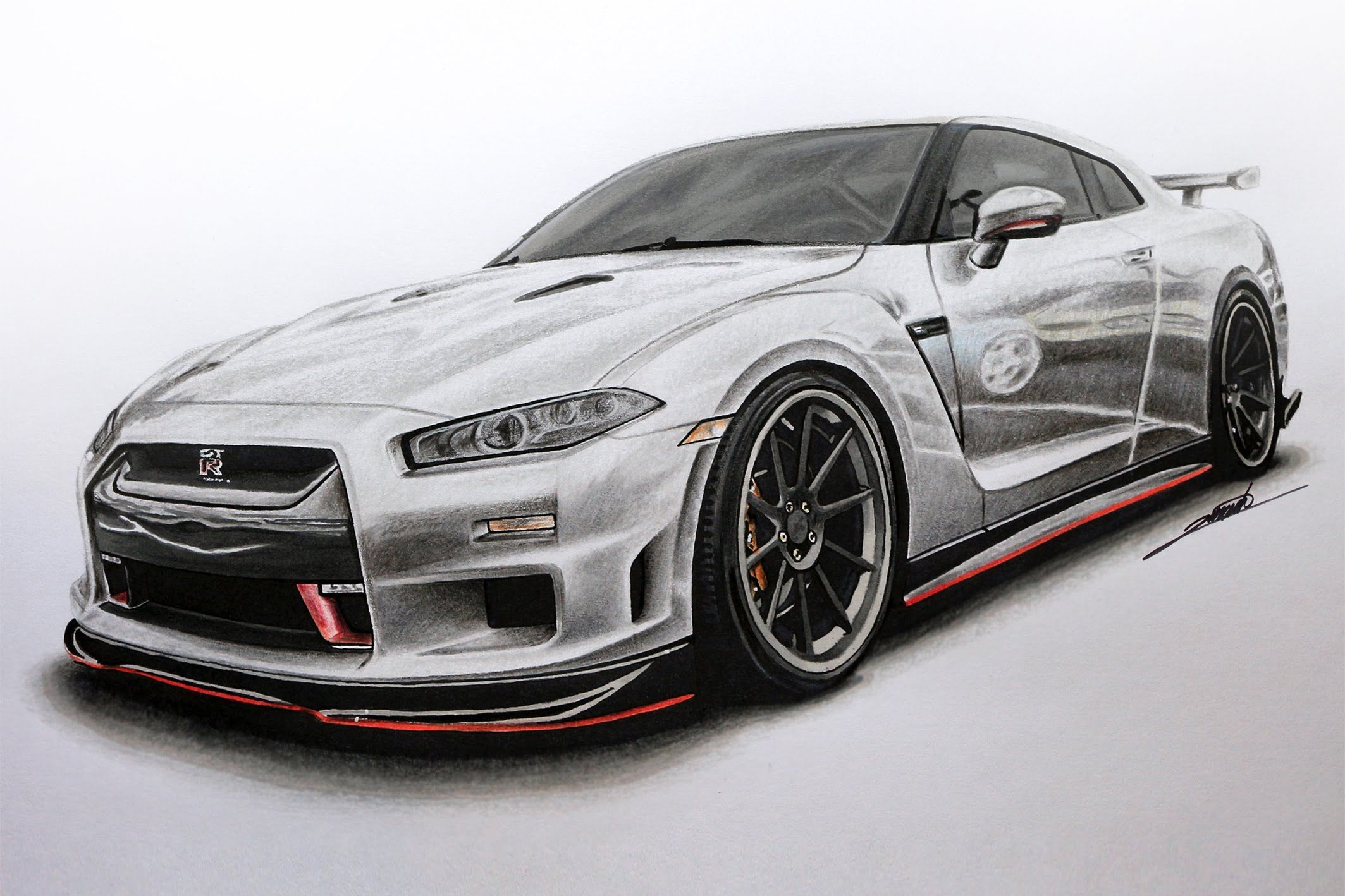 Nissan gtr edition r34 concept drawing by roman miah