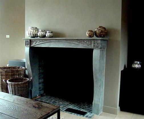 Belgian style interiors fireplace bourgondisch kruis