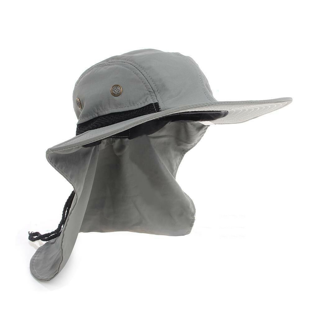 Free 2 Day Shipping Buy Outdoor Fishing Hiking Boonie Hunting Snap Hat Brim Ear Neck Cover Sun Flap Cap At Walmart C In 2021 Hiking Hats For Women Sun Hats Casual Cap