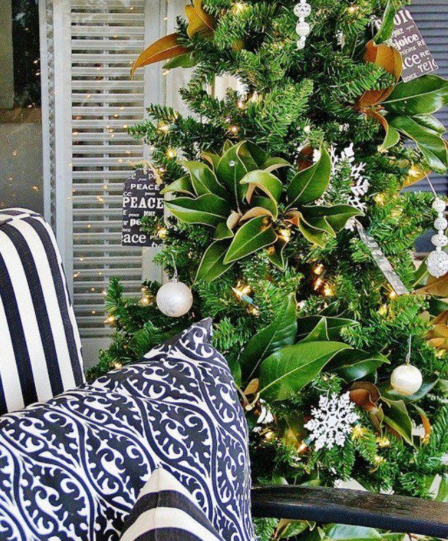 Christmas Decor with Magnolia Leaves Magnolia Leaf Christmas Tree