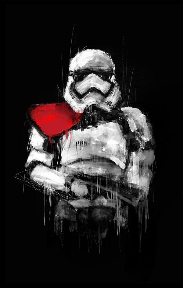 Star Wars Portraits On Behance Star Wars Painting Star Wars Wallpaper Star Wars Canvas Art