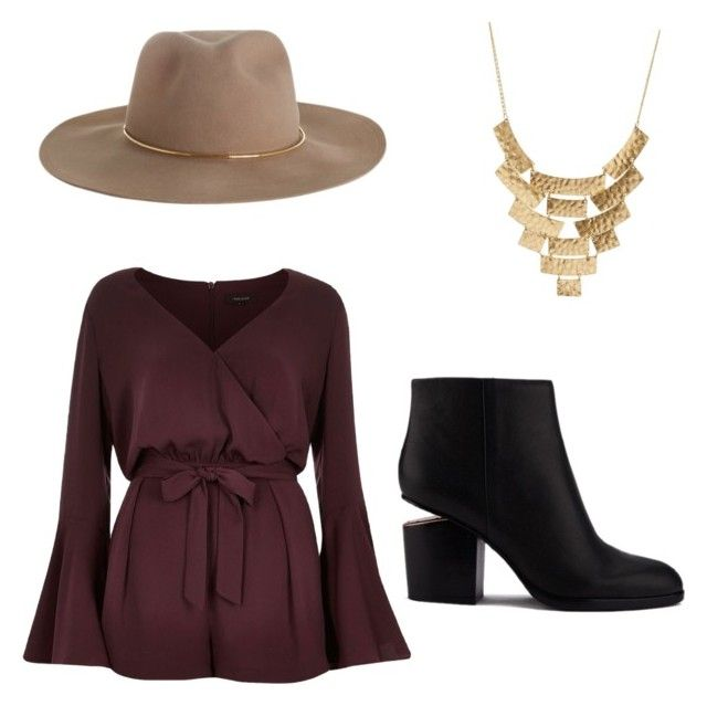 """""""Untitled #7"""" by themadelinecounts on Polyvore featuring Charlotte Russe, River Island, Zimmermann and Alexander Wang"""