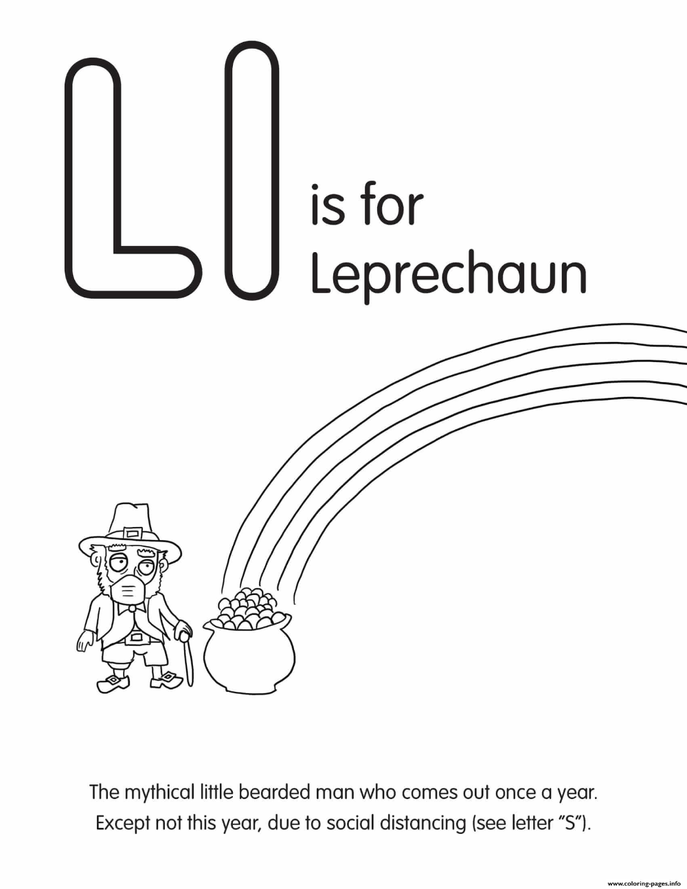 Print L Is For Leprechaun Coloring Pages Coloring Pages Printable Coloring Pages Coloring Pages To Print [ 1294 x 1000 Pixel ]