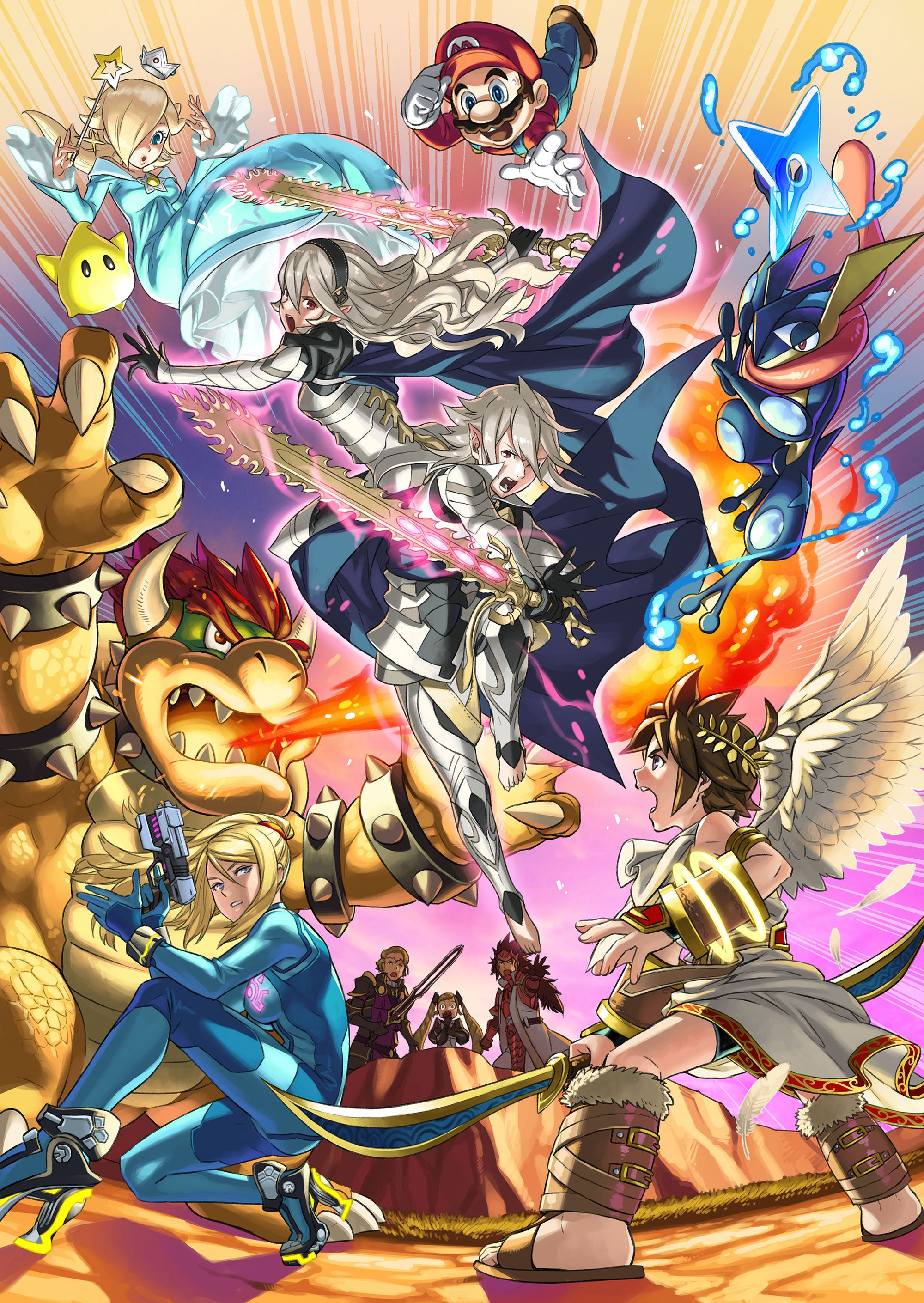 Super Smash Bros Wii U 3DS Fire Emblem Fates Pokemon Metroid Kid Icarus