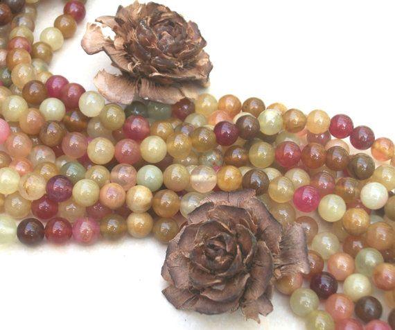 Rainbow Soucho Jade 8 mm round beads full by AmberAngelRocks, $7.15