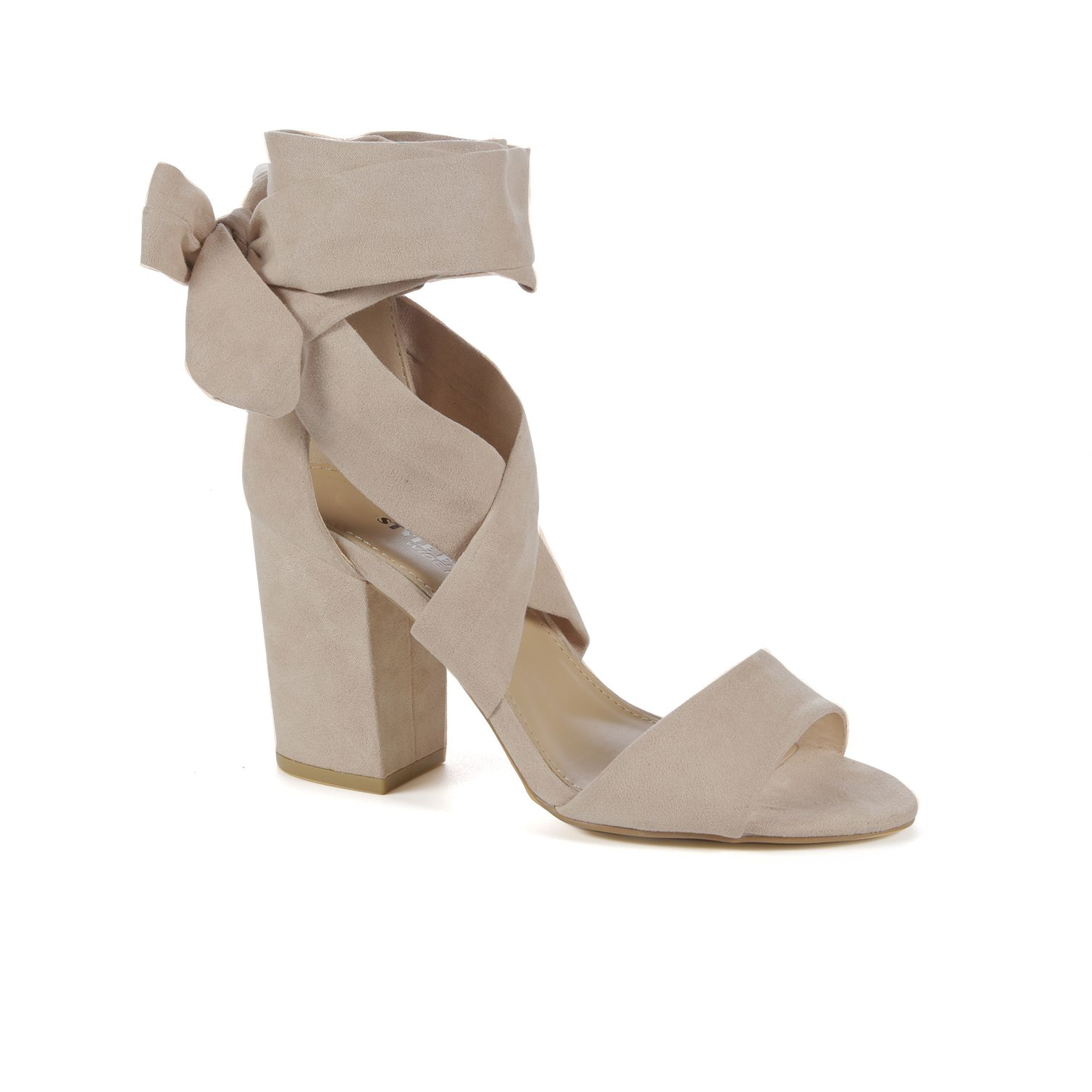 Sadie Block Heels Wide Fit Canvas Shoes Women Lace Dress With Sleeves Number One Shoes