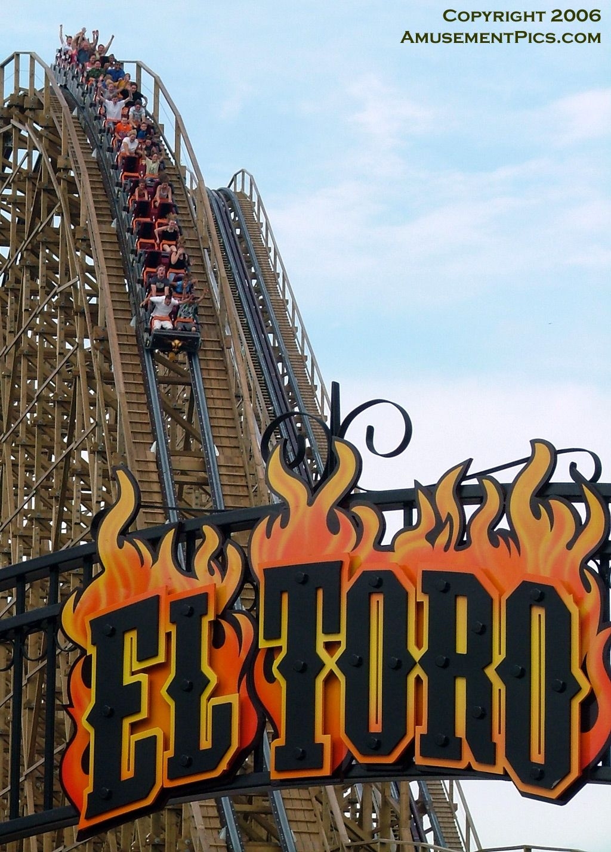 Six Flags Great Adventure Jackson Nj El Toro With The Daunting King Da Ka In The Back Been Six Flags Great Adventure Roller Coaster Wooden Roller Coaster