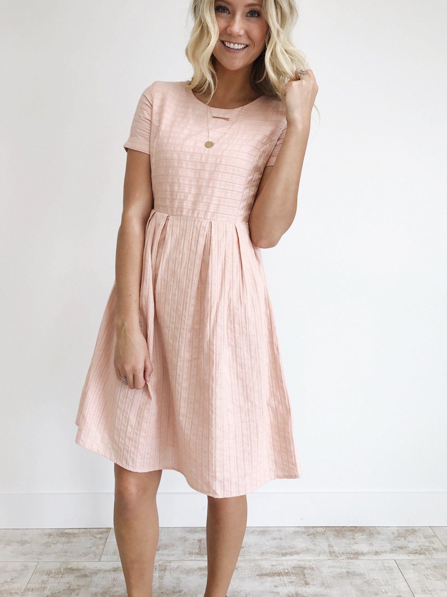 Sammi dress in blush rooleejpg hair makeup and clothes